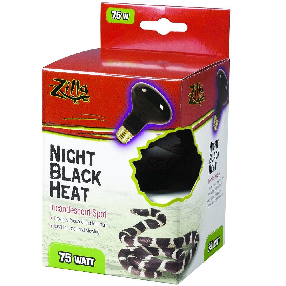 Zilla Night Black Heat Bulb Boxed 75 Watts