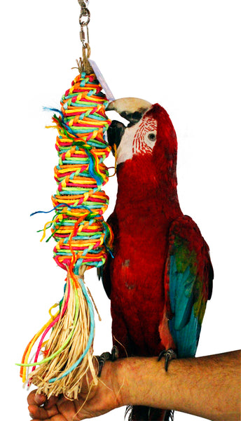 Birds LOVE Twisted Paper Tornado Toy for Large Birds
