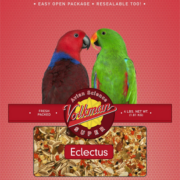 Volkman Avian Science Super Eclectus Bird Food, 4 lbs