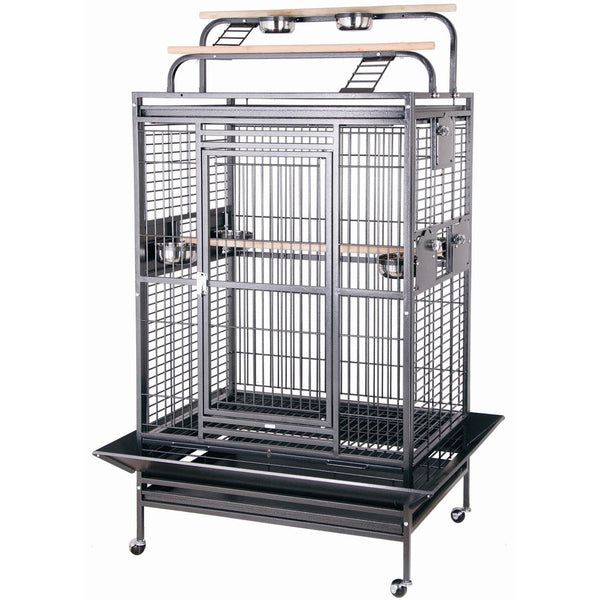 "Playtop Bird Cage, 36"" x 28"", Black"