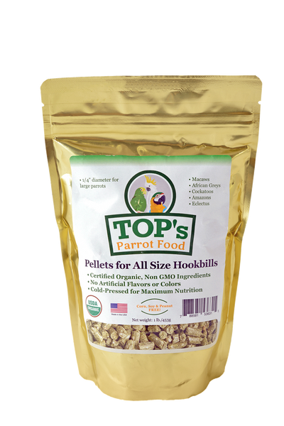 TOP's Parrot Pellets for All Size Hookbills, 1 lb