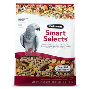Zupreem Smart Selects for Parrots & Conures, 4 lbs