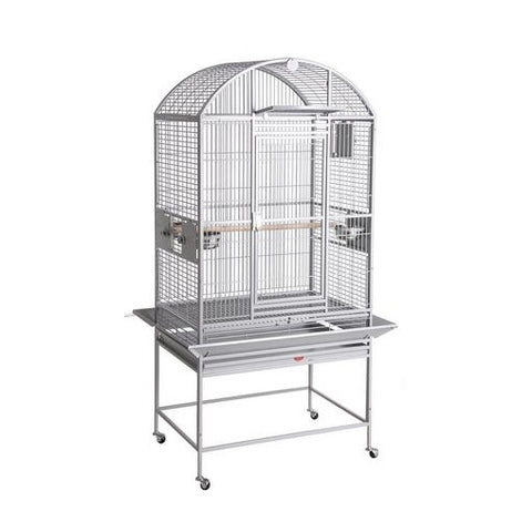 "24""x22"" Dometop Cage, Platinum White"