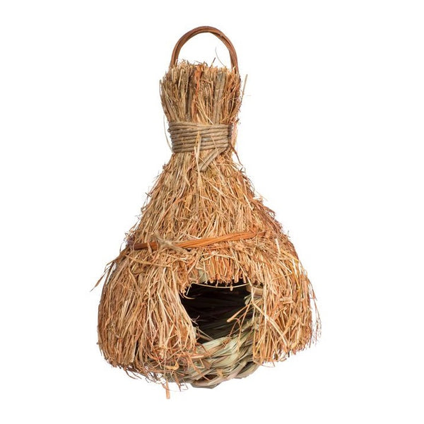 Natural Fiber Finch Covered Tiki Hut