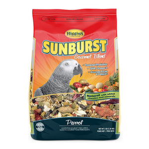 Higgins Sunburst Gourmet Food Mix for Parrots, 3 lbs
