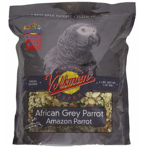 Volkman Avian Science Super African Grey & Amazon Parrot Food, 4 lbs