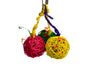 10pk STUFFED HANGING COLORED VINE BALLS