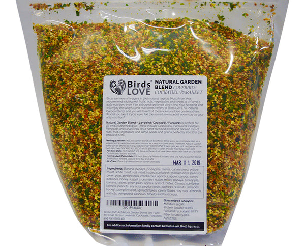 Bird's LOVE All Natural Garden Blend Small, 4 lbs