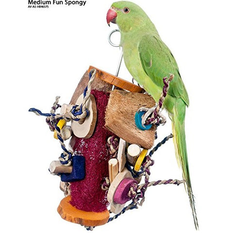 Java Wood Fun Spongy Bird Toy Medium