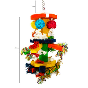 Birds LOVE Hanging Spoons and Rings Bird Toy, Large