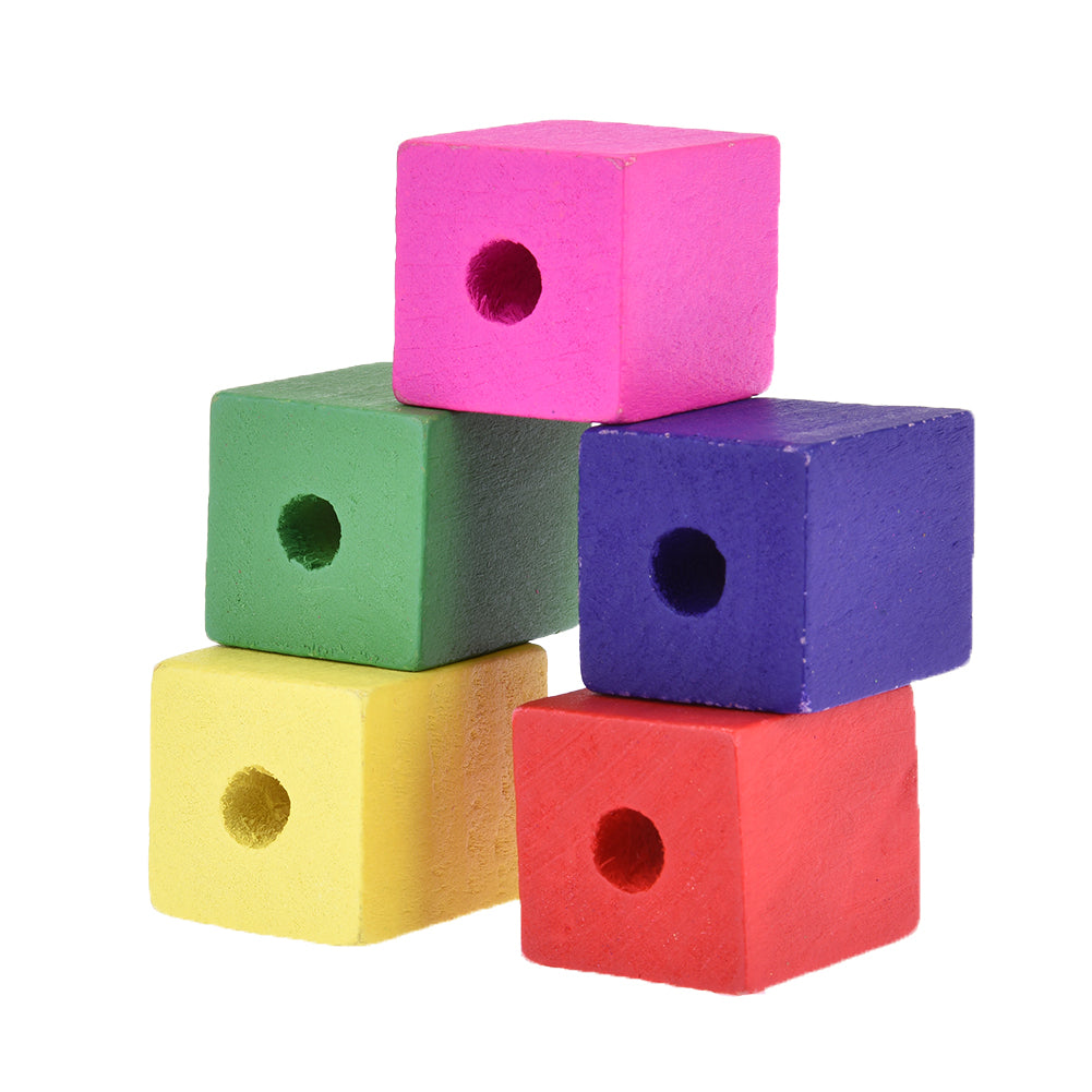 Colorful Wooden cubes, 28mm