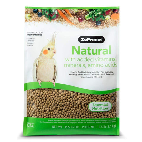 Zupreem Natural for Medium Birds, 2.5 lbs