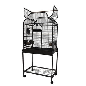 "28""x18"" Scroll Top Cage, Black"
