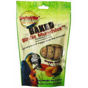 Oven Fresh Bites Birdie Munchies Pet Treat, Veggie, 4 oz