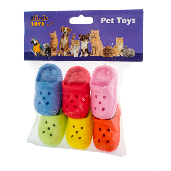 6PK FOOT TOYS CROCKS