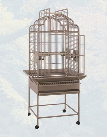 "24""x22"" Victorian Top Bird Cage - Platinum White"