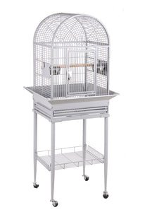 "18""x16"" Dome Top Bird Cage - Platinum White"