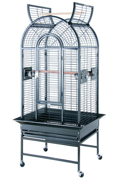"26""x22"" Dome Top Bird Cage w Opening Top - Platinum White"