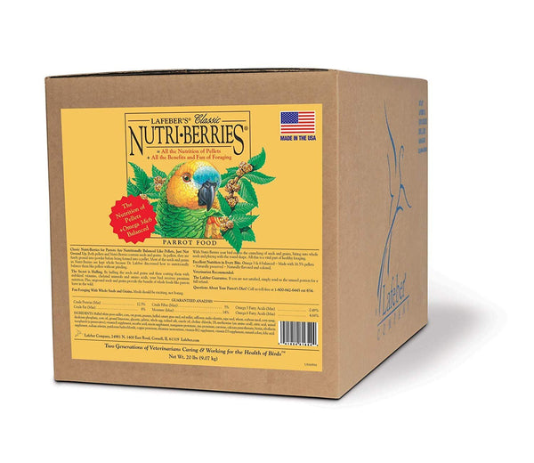 Lafeber Company Nutri-Berries Parrot Pet Food, 20-Pound