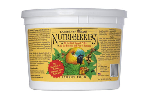 Nutri-Berries Parrot Food - 3.25 lbs