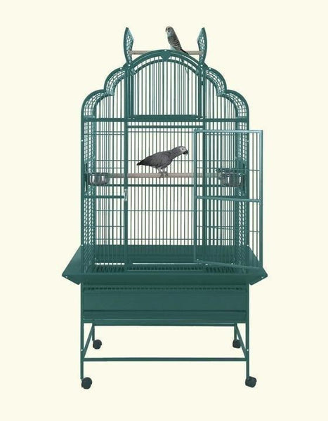 "32""x23"" Victorian Top Bird Cage - Platinum White"