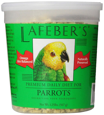 Lafeber's Premium Daily Diet for Parrot Pellets - Naturally Preserved Bird Food - 1.25 lbs