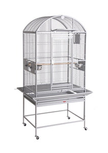 "24""x22""x60"" Dome Top Bird Cage with Drop Front - Black"