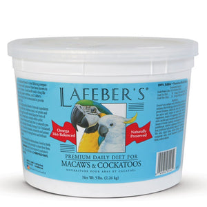 Lafeber's NON-GMO Macaw Cockatoo Pellets Premium Daily Diet Bird Food 5lb