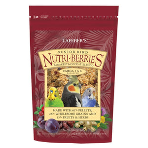 LAFEBER'S Senior Bird Nutri-Berries for Parakeet & Cockatiel - 10 oz