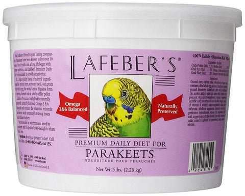 Parakeet Pellets Premium Daily Diet Pet Food-Naturally Preserved Bird Food - 5 lb