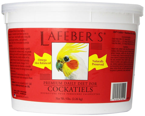 Lafeber's Premium Daily Diet Pellet for Cockatiels-Naturally Preserved Bird Food