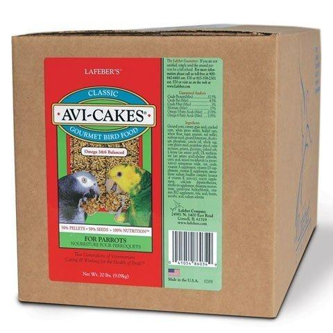 Lafeber's Classic Avi-Cakes for Parrots - 20 lbs