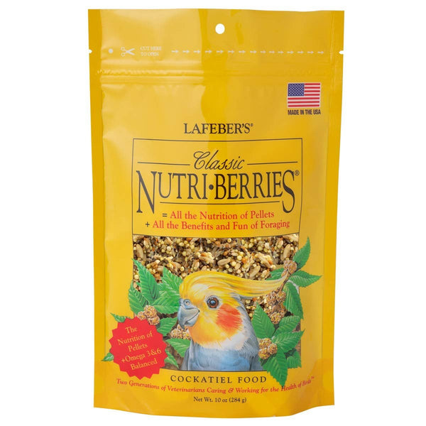 LAFEBER'S Classic Nutri-Berries Bird Food and Treat for Cockatiels - 10 oz