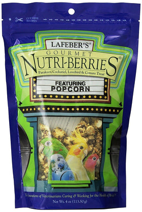 Lafeber's Nutri-Berries with Popcorn Gourmet Treat - 4 oz - Cockatiel