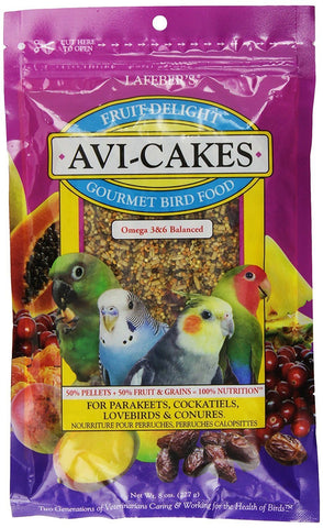 Lafeber Company 8-Ounce Lafeber Avi-Cakes Fruit Delight for Hookbills