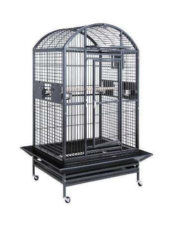 "40""x30""x72"" Dome Top Bird Cage with Drop Front - Green"