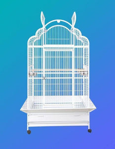 "40""x32""x73"" Arch Victorian Top Bird Cage - Black"