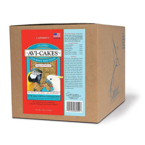 Lafeber Company Original Avi-Cakes for Macaws and Cockatoos, - 20-Pound