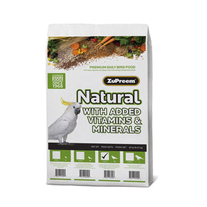 Zupreem Natural Small Bird Food 20 lb