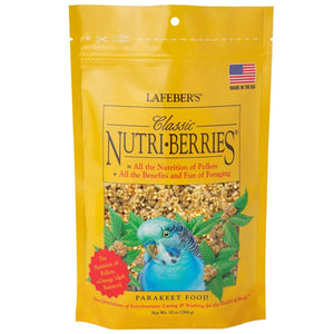 LAFEBER'S Classic Nutri-Berries Bird Food and Treat for Parakeets 10 oz