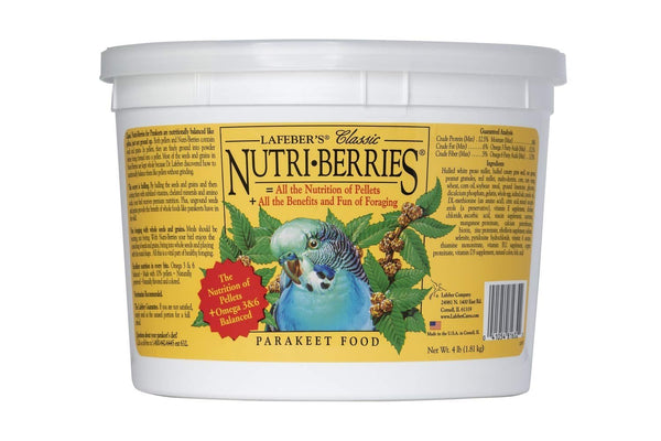 Classic Nutri-Berries Parakeet Food - Naturally Preserved Nutritious Birds Food