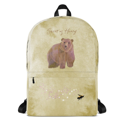 Sweet as Honey Bear Backpack - Sarikaya Art