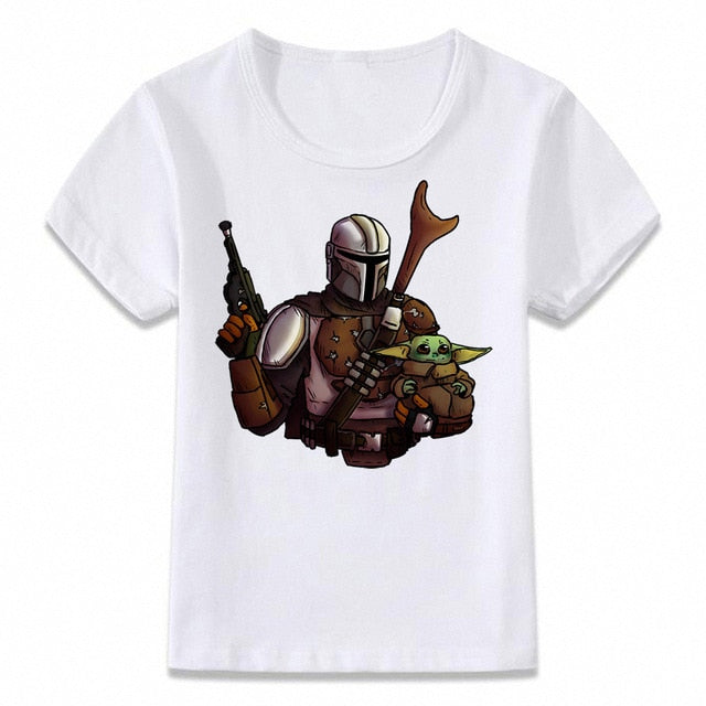 Kids Baby Yoda Christmas T-Shirt