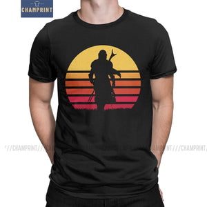 Mando Retro The Mandalorian mens T-Shirts