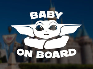 14x9cm Baby Yoda Car Stickers