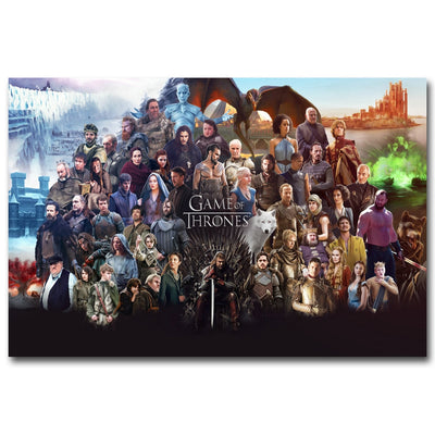 Game of Thrones All Characters Silk Print Poster