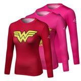 Womens Superhero Compression Long Sleeve T-shirts