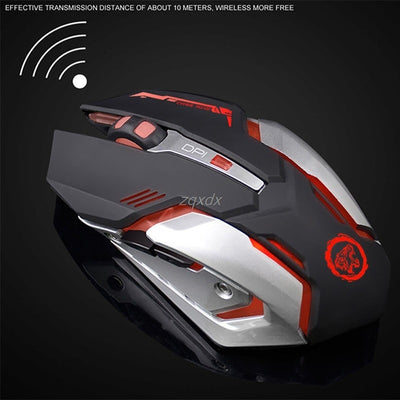 Rechargeable Wireless PC Gaming Mouse 2400DPI PC USB Optical Z09
