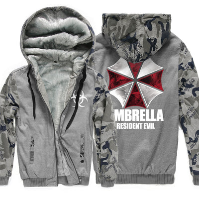 Resident Evil Umbrella Hooded Camouflage color Hoodies