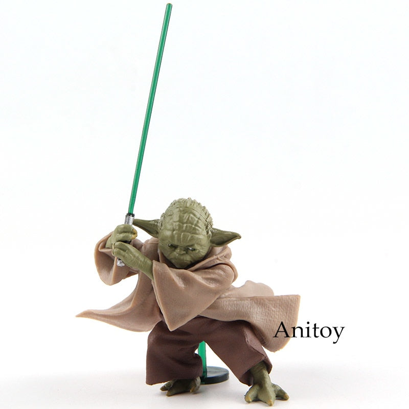 Star Wars Jedi Master Yoda with Lightsaber PVC Collectible 6cm